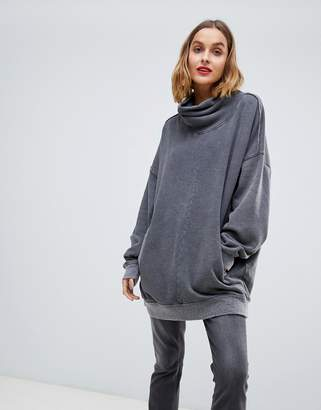 Free People Too Easy roll neck oversized sweater