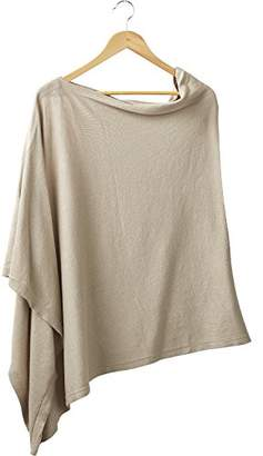 Tickled Pink Women's Elegent Solid Cotton Poncho