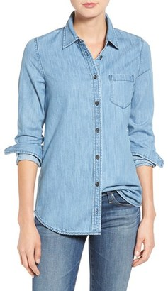 Women's Ag Easton Chambray Shirt $168 thestylecure.com