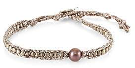 Chan Luu Women's Dark Champagne Pearl Bracelet