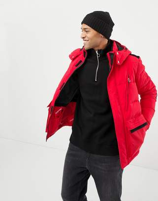 Jack and Jones Originals puffer parka with mixed fabric panels