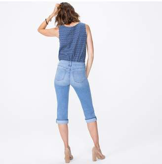 NYDJ MARILYN STRAIGHT CROP WITH CUFF IN COOL EMBRACE IN PETITE