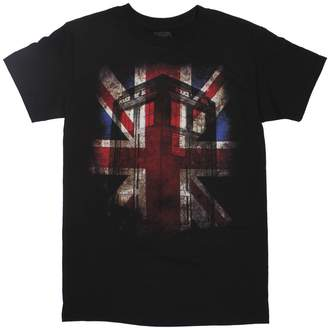 Ripple Junction Doctor Who Tardis Union Jack Glow Adult T-Shirt