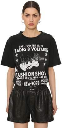 Zadig & Voltaire Zadig&voltaire Fashion Show Print Cotton Jersey T-Shirt