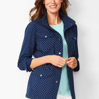 Talbots Casual Drawcord Jacket - Dot