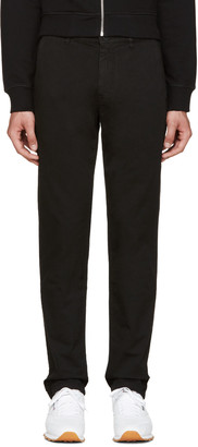 Kenzo Black Gabardine Chino Trousers $235 thestylecure.com