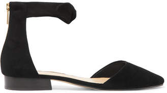 MICHAEL Michael Kors - Alina Knotted Suede Flats - Black $130 thestylecure.com