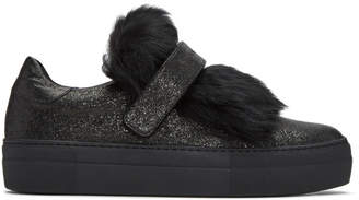 Moncler Black Lucie Slip-On Sneakers