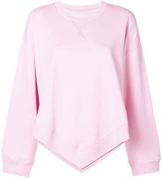 MM6 MAISON MARGIELA pointed hem sweatshirt