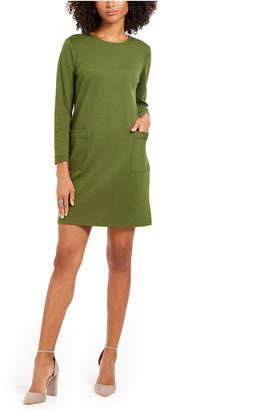 NY Collection Petite Patch-Pocket Shift Dress