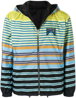 Prada striped windbreaker jacket