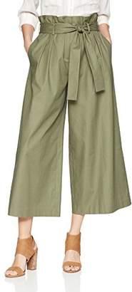 BCBGMAXAZRIA Women's Issac Paperbag-Waist Wide Leg Culotte