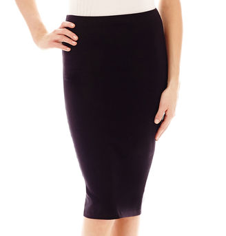 Decree Midi Bodycon Solid Skirt $20 thestylecure.com
