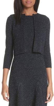 Oscar de la Renta Tweed Knit Cardigan
