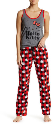 Hello Kitty Red Check PJ Set $42 thestylecure.com