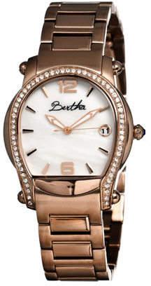 MOP Women's Bertha Fiona BR2904 - Rose Gold Steel/White Analog Watches