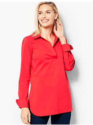 Talbots Poplin Tunic Top