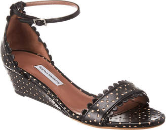 Tabitha Simmons Juniper Perforated Leather Wedge Sandal