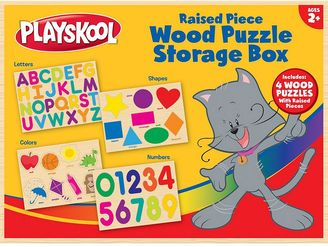 Playskool Wood Puzzle Storage box $30.99 thestylecure.com