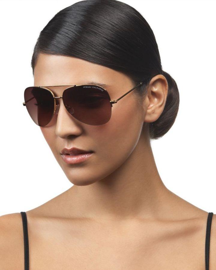 A/X Armani Exchange Aviator Sunglasses