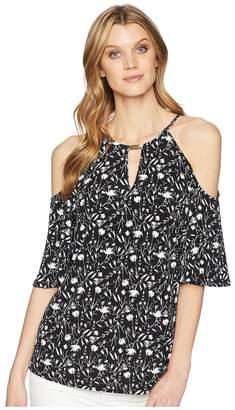 Ellen Tracy Cold Shoulder Top Women's Clothing