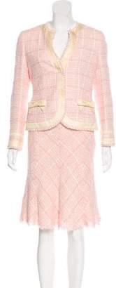 Rena Lange Patterned Knee-Length Skirt Suit