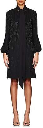 J. Mendel Women's Beaded Silk Satin Shift Dress - Black