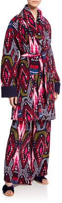 Figue Karina Reversible Ikat Striped Coat