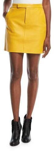 Ralph Lauren Collection Bennet Short Leather Skirt