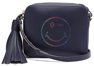 Anya Hindmarch Rainbow Wink Leather Cross Body Bag - Womens - Navy Multi