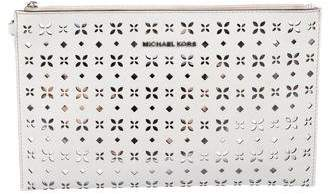 MICHAEL Michael Kors Perforated Leather Clutch