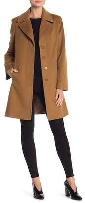 Fleurette Short Length Wool Coat