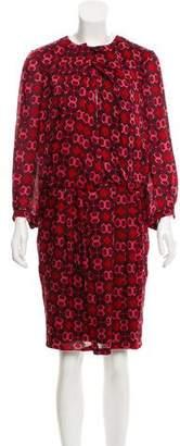 Gucci Abstract Print Silk Dress