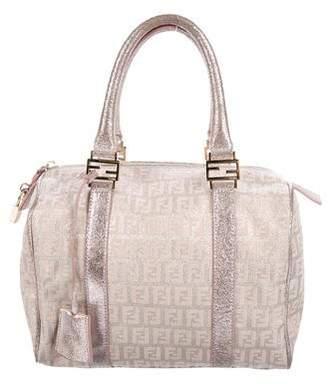 Fendi Metallic Zucca Boston Bag