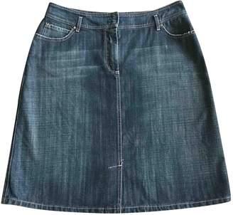 Rena Lange Blue Cotton Skirt for Women