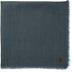 From The Road Men's Cashmere Pocket Square-Blue