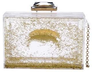 Kotur Glitter Globe Perspex Box Clutch w/ Tags