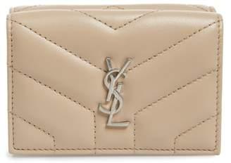 Saint Laurent Loulou Matelasse Leather Wallet