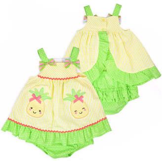 Nanette Baby Sleeveless Yellow Seersucker Dress - Baby Girls