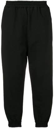 Paura gathered ankle track pants