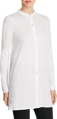 Eileen Fisher Organic Cotton Mandarin Collar Tunic $158 thestylecure.com