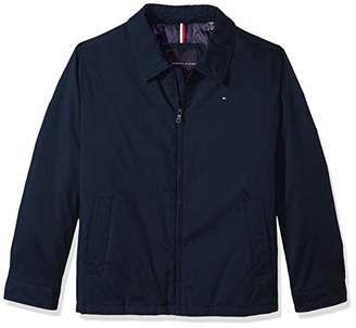 Tommy Hilfiger Men's Big and Tall Micro-Twill Open-Bottom Zip-Front Jacket