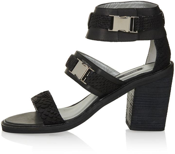 Topshop SENSO Block Heel Strap Sandals