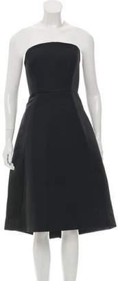 Halston Strapless Knee-Length Dress w/ Tags