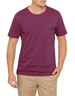 Paul Smith Regular Fit Striped Cotton Tee