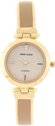Anne Klein AK2694 Gold-Tone & Tan Watch