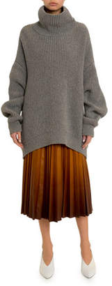 Givenchy Oversized Chunky Turtleneck Sweater