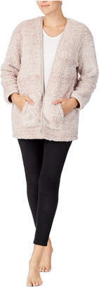 Cuddl Duds Open Front Faux-Fur Cardigan
