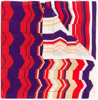 Missoni asymmetric panelled knit scarf