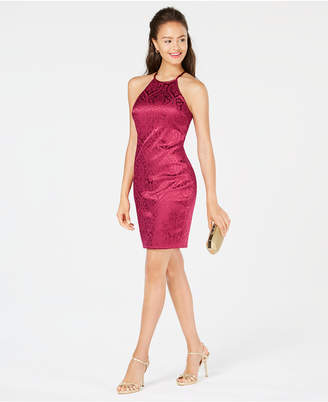 Sequin Hearts Juniors' Jacquard Bodycon Dress